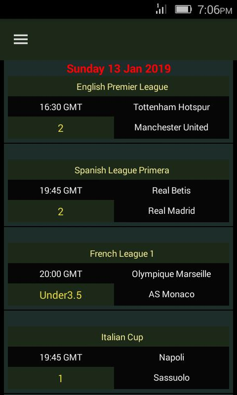 SURE Bets - Predictions Foot 100% for Android - APK Download