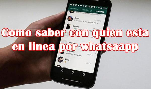 Como saber con quien esta en linea por whatsaapp screenshot 1