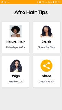 Afro Hair Tips poster
