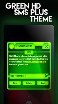 Nature Green HD SMS Plus Theme screenshot 2