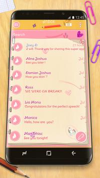 Pink Letter SMS Theme poster