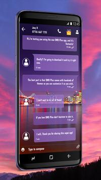 Wallpaper SMS Theme screenshot 1