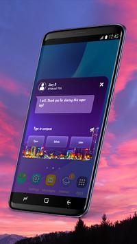 Wallpaper SMS Theme screenshot 2
