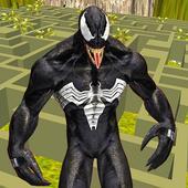 Venom Super hero Vs Zombie Fight Maze Runner icon