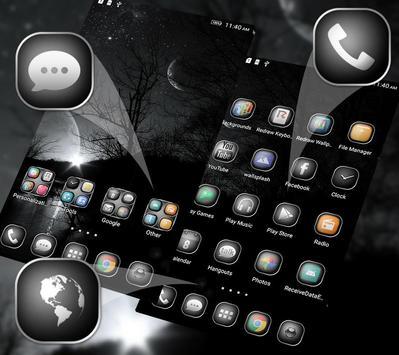 Black&White Launcher Theme poster