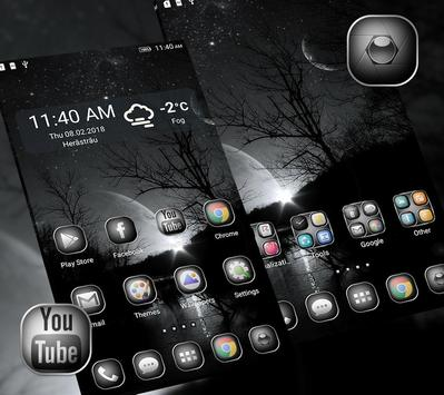 Black&White Launcher Theme screenshot 2