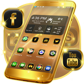 Neon Gold Theme For Launcher icon