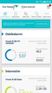 Türk Telekom Online İşlemler Ekran Görüntüsü 1
