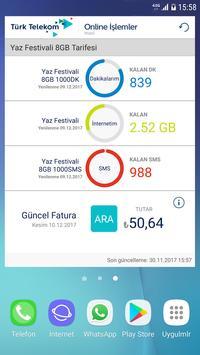Türk Telekom Online İşlemler Ekran Görüntüsü 2