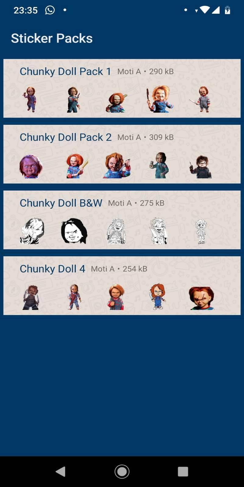 Stickers Chuky Doll For Whatsapp For Android Apk Download