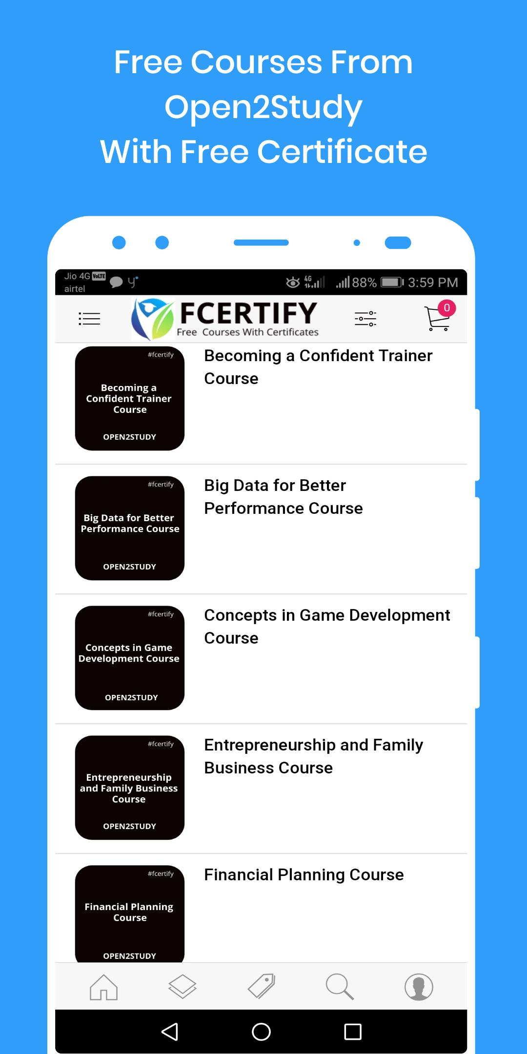 Free Online Courses With Certificate for Android - APK Download
