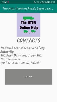 Ntsa Keeping Roads Secure and Driving Guide Online screenshot 3