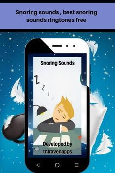 Snoring sounds, best loud snoring ringtones free poster