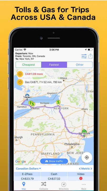 Trip & toll calculator car truck free | tollguru for android.