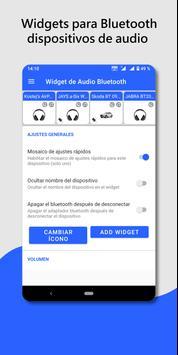 Widget de dispositivo de audio Bluetooth: conectar Poster
