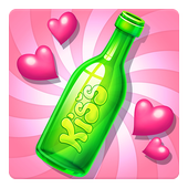 Kiss Kiss: Spin the Bottle for Chatting & Fun icon