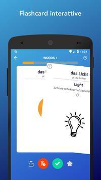 1 Schermata Impara Vocaboli, Verbi, Parole e Frasi in tedesco