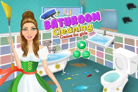 Bathroom Cleaning-Toilet Games poster