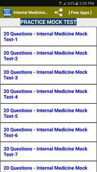 Internal Medicine Quiz Questions poster