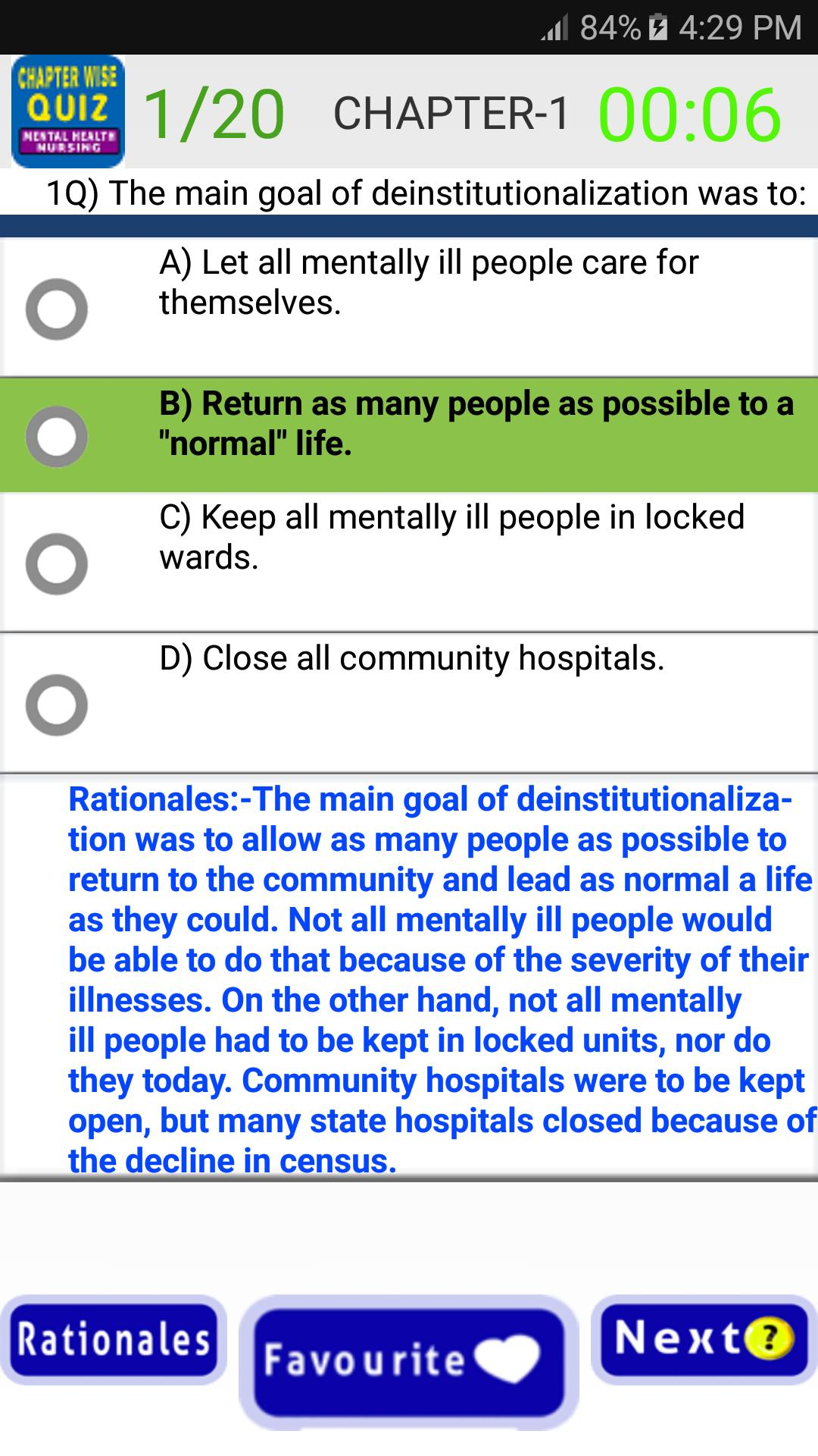 Psychiatric And Mental Health Nursing Quiz For Android Apk