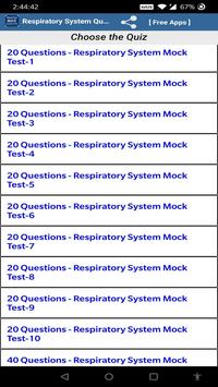 Respiratory System Quiz Questions poster