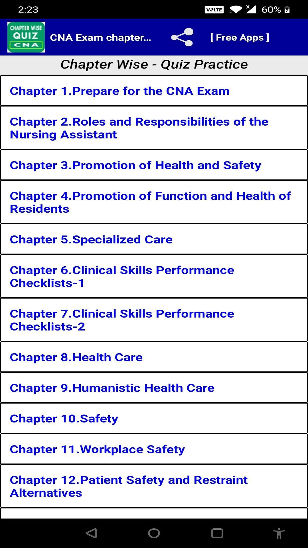CNA Exam Chapter Wise Quiz For Android APK Download