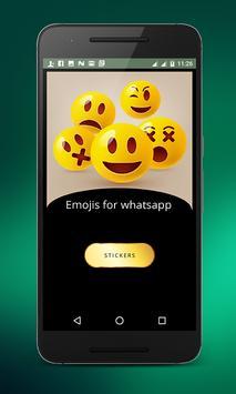 Emojis for whatsapp poster