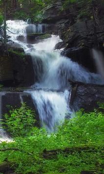 Swift waterfall live wallpaper poster