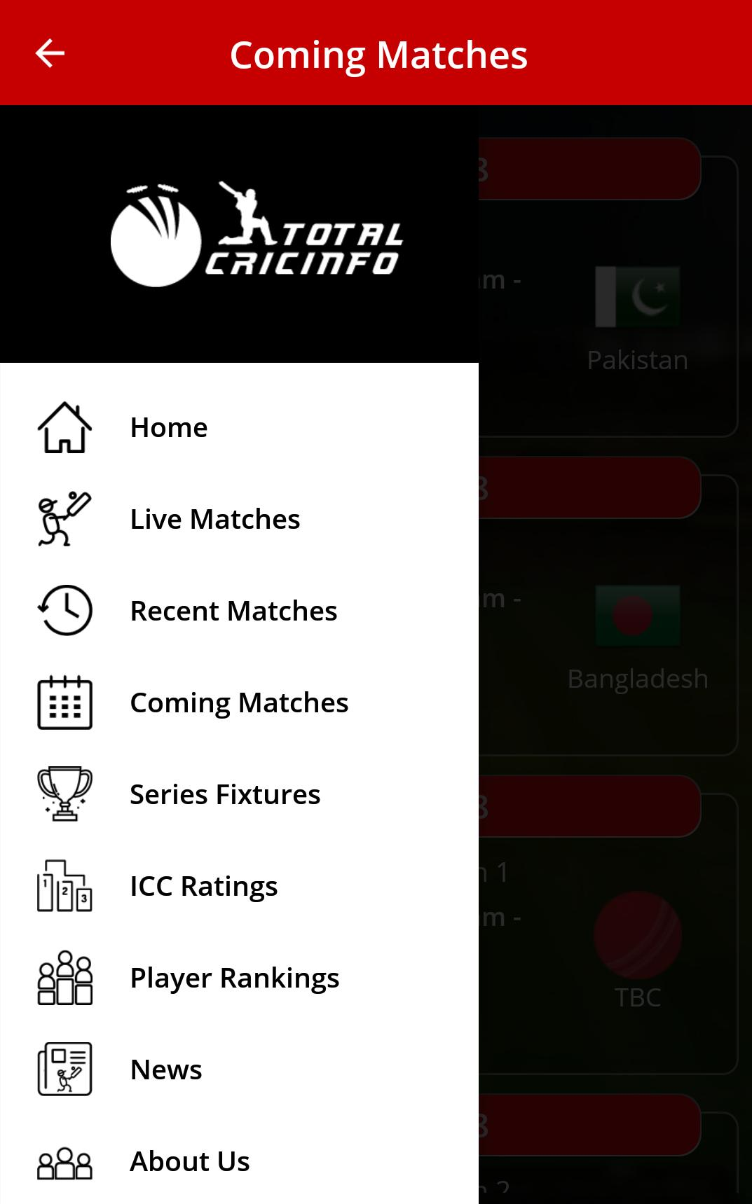 Live Cricket Scores & Updates -Total Cricinfo for Android