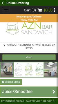 AZN Sandwich Bar screenshot 3