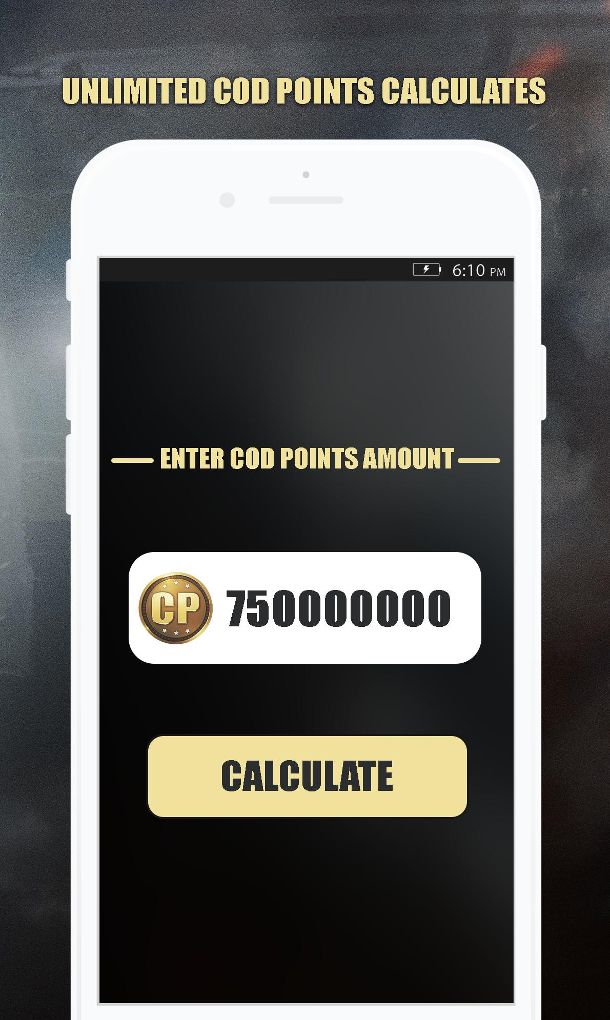 Free Cod Points Calc For Call Of Duty Mobile For Android Apk Download