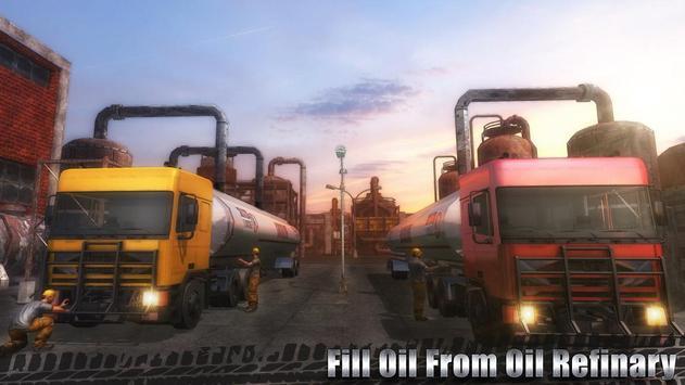 Oil Cargo Transport Truck poster
