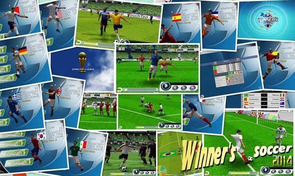 Fútbol del ganador Poster
