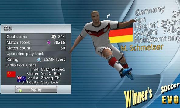 Fútbol del ganador captura de pantalla 1