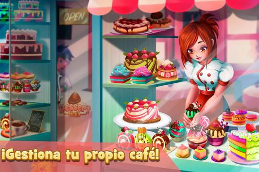Camarera de Cafetería: Postres Poster