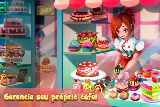 Garçonete Café & Chefe Padaria: Negócio de Doces Cartaz