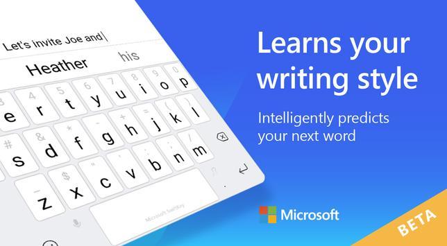 Microsoft SwiftKey Beta plakat