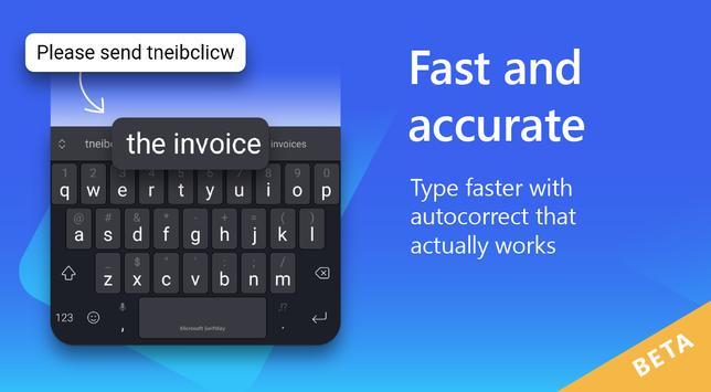 Microsoft SwiftKey Beta screenshot 1