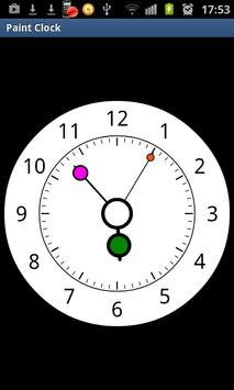 Paint Clock screenshot 2