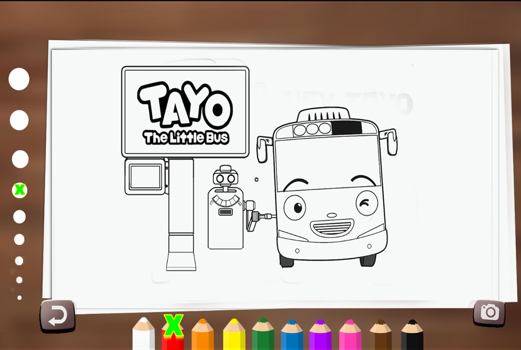73 Gambar Mewarnai Tayo The Little Bus Paling Keren