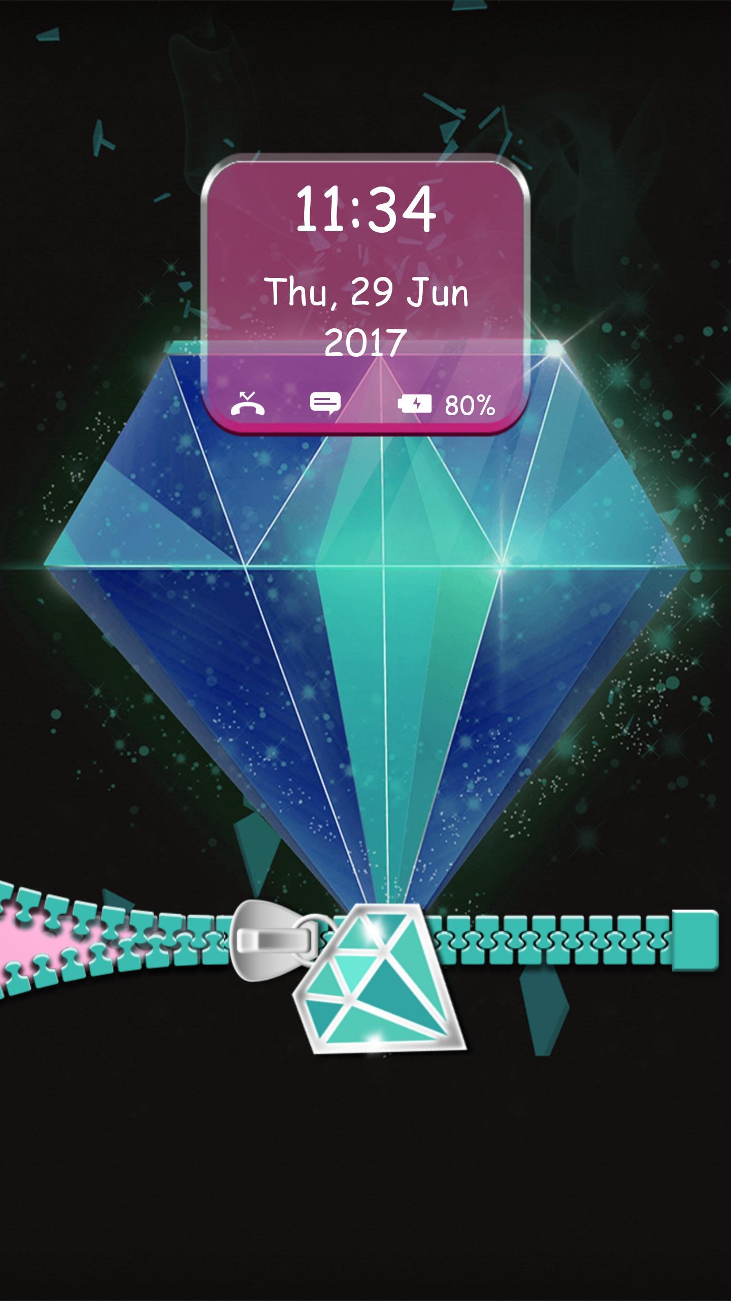 Diamond Zip Lock Screen for Android ...