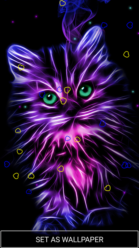 Neon animals wallpaper moving backgrounds for android - Moving animal wallpapers ...