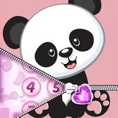 Cute Panda Zipper Lock icon