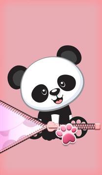 Cute Panda Zipper Lock screenshot 6
