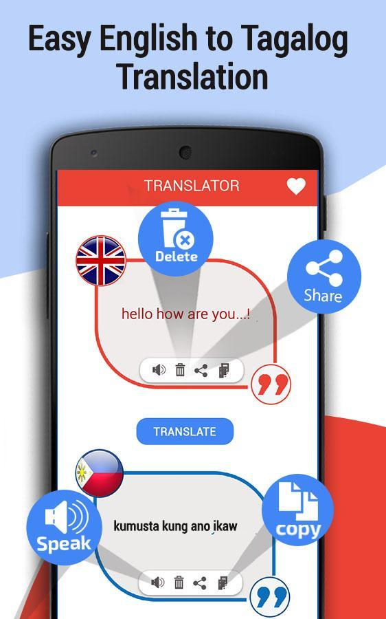 English Tagalog translator – Filipino translation for