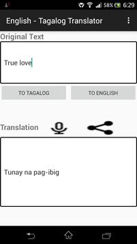 English - Tagalog Translator poster