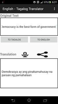 English - Tagalog Translator screenshot 3