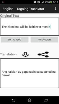 English - Tagalog Translator screenshot 9
