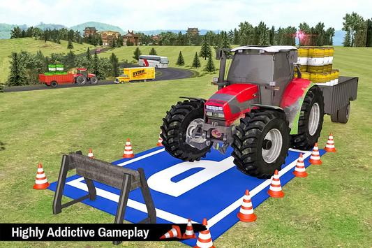 Tractor Trolley Parking Drive - Drive Parking Game screenshot 5