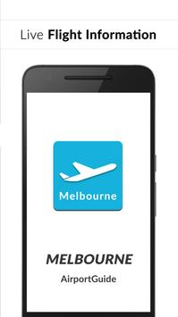 Melbourne Airport Guide - Flight information MEL poster